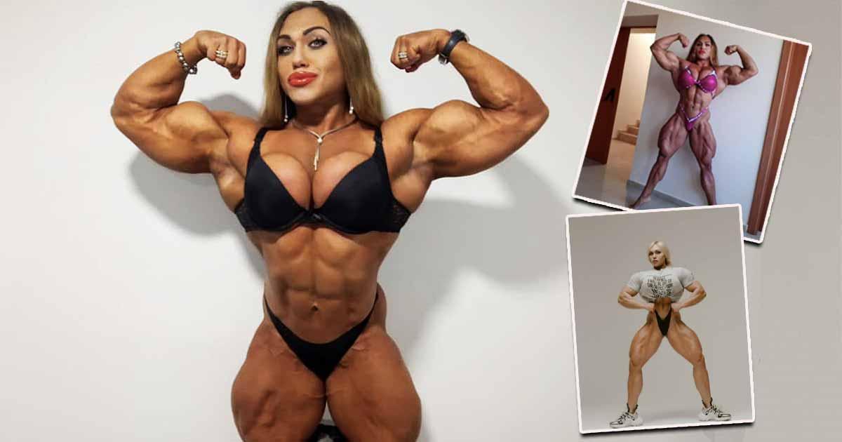 Frau bodybuilder hafen im
