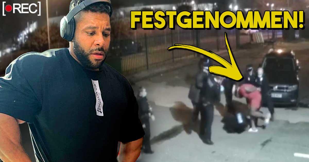 Titelbild: Nathan De Asha von Polizei abgeführt