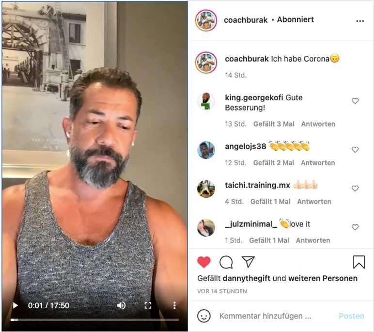 Instagram: Coach Burak informiert über seinen Gesundheitszustand