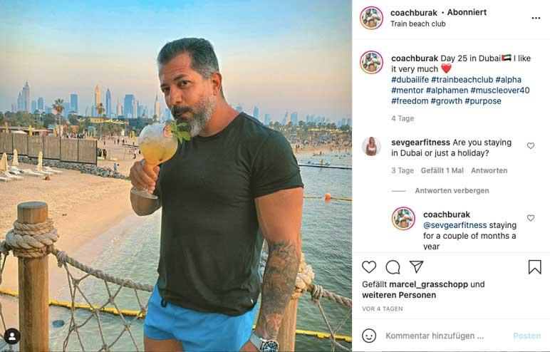 Instagram: Coach Burak in Dubai