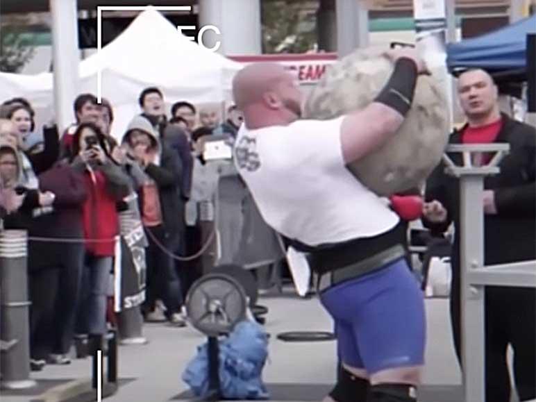 Bild: Craig Bongelli bei der Bavarian Strongman Challenge