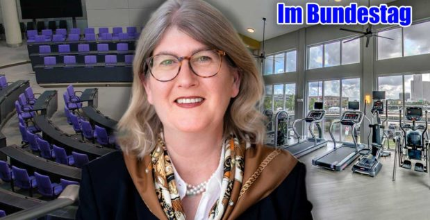 Titelbild: Britta Dassler fordert die Öffnung der Fitnessstudios!