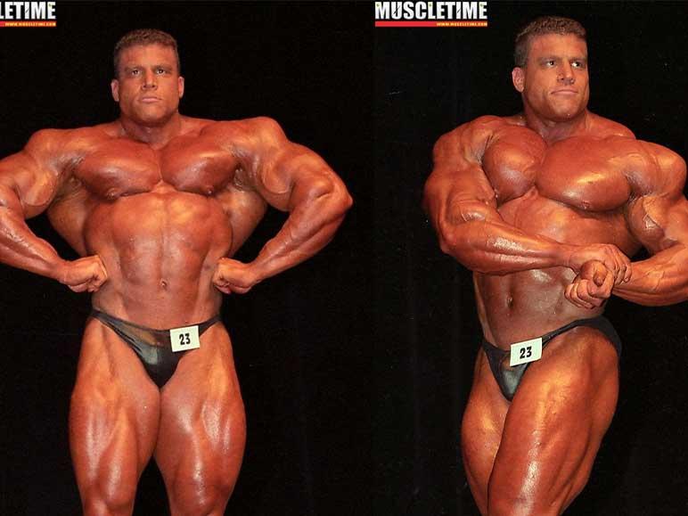 Bild: Greg Kovacs bei einem Bodybuilding-Wettkampf