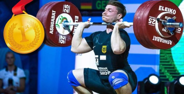 Titelbild: Max Lang hol EM-Titel im Gewichtheben
