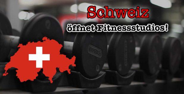 Titelbild: Fitnessstudios in der Schweiz öffnen wieder!