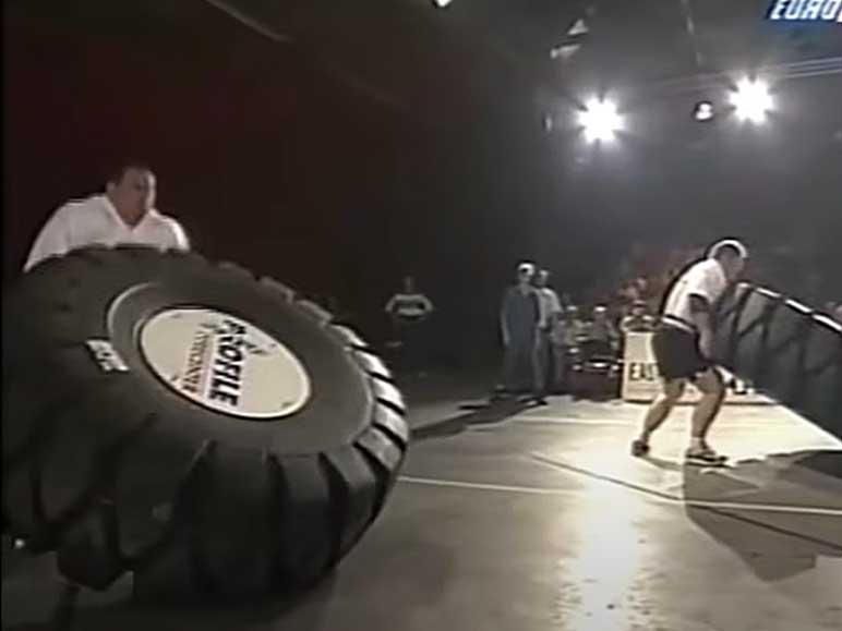 Bild: Tyre Flip Europe's Strongest Man 1997