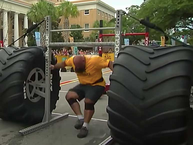 Bild: Yoke Race beim World's Strongest Man 2019