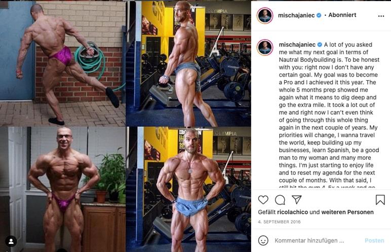 Instagram: Mischa Janiec in Wettkampf-Form