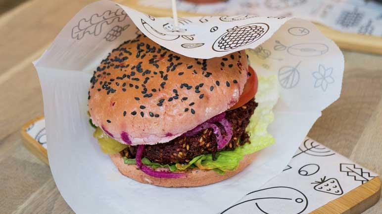 Bild: Burger mit Fleischersatz