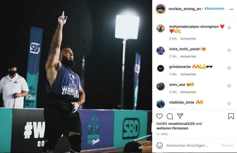 Instagram: World's Strongest Man 2020 Oleksii Novikov