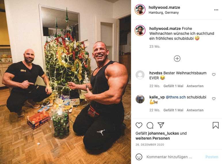 Instagram: Steve Benthin zusammen mit Hollywood Matze
